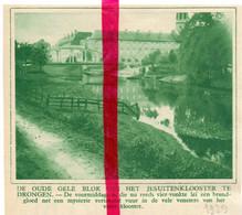 Orig. Knipsel Coupure Tijdschrift Magazine - Drongen - Het Jezuïeten Klooster - 1929 - Ohne Zuordnung