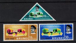 BRUNEI 1968 - PALACIO DE LA CULTURA - YVERT Nº 140/142** - Brunei (1984-...)
