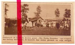 Orig. Knipsel Coupure Tijdschrift Magazine - Drongen - Het Heilig Huizeken Tijdens Gentse Feesten - 1930 - Ohne Zuordnung