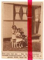 Orig. Knipsel Coupure Tijdschrift Magazine - Drongen - Het Heilig Huizeken , Kinderen - 1930 - Ohne Zuordnung