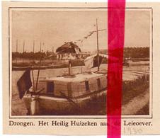 Orig. Knipsel Coupure Tijdschrift Magazine - Drongen - Het Heilig Huizeken Aan De Leieoever - 1930 - Ohne Zuordnung
