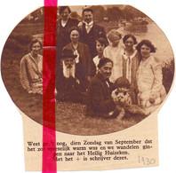Orig. Knipsel Coupure Tijdschrift Magazine - Drongen - Gezin Aan Het Heilig Huizeken - 1930 - Ohne Zuordnung
