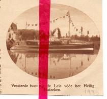 Orig. Knipsel Coupure Tijdschrift Magazine - Drongen - Versierde Boot Aan Het Heilig Huizeken - 1930 - Ohne Zuordnung