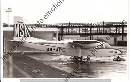 PHOTO AVION  RETIRAGE REPRINT      BRITTEN NORMAN BN 2A  MALAYSIA SINGAPORE AIRLINES 9M-APE - Aviazione