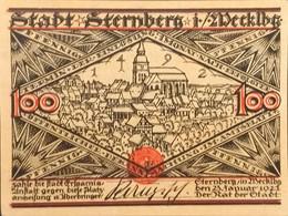 Sza.20 - Germany 1922 Notgeld Banknote 100 Pfennig Sternberg Grabowski/Mehl 1268.3-1/3 UNC - [11] Local Banknote Issues