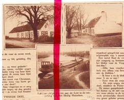 Orig. Knipsel Coupure Tijdschrift Magazine - Drongen - Hoeven Aan Het Heilig Huizeken - 1930 - Ohne Zuordnung