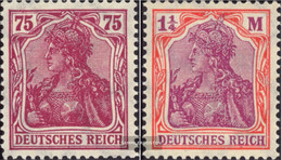 German Empire 197-198 (complete Issue) Watermark Waffles With Hinge 1922 Germania - Unused Stamps