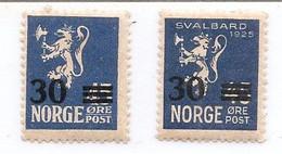 NORGE , 1927-28 Yvert 125 ** Et 126 **-MNH - Ungebraucht