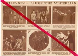 Orig. Knipsel Coupure Tijdschrift Magazine - Brussel - Koers Wielrennen 6 Daagse, Scheerens, Aerts, Benoit - 1929 - Ohne Zuordnung