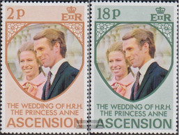 Ascension 177-178 (complete Issue) Unmounted Mint / Never Hinged 1973 Wedding - Ascension