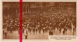 Orig. Knipsel Coupure Tijdschrift Magazine - Brussel - Optocht Oud Strijders  - 1929 - Ohne Zuordnung