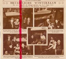 Orig. Knipsel Coupure Tijdschrift Magazine - Brussel - Koers Wielrennen - 6 Daagse - 1929 - Ohne Zuordnung