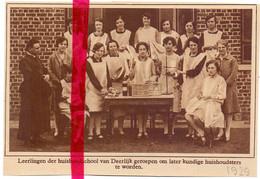 Orig. Knipsel Coupure Tijdschrift Magazine - Deerlijk - Leerlingen Huishoudschool - 1929 - Ohne Zuordnung