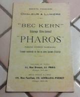 """Catalogue Société Française Chaleur Et Lumière Bec Kern Eclairage Ultra Intensif """"Pharos"""" Urbain Commerce Intérieur - Publicidad"""