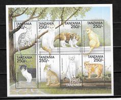 TANZANIA Nº 2631 AL 2638 - Hauskatzen