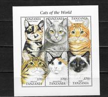 TANZANIA Nº 3101AY AL 3101BD - Hauskatzen