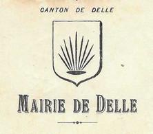 1938 / Courrier Mairie (cachet) De Delle 90 / Commande 80 Tables Scolaires - 1900 – 1949