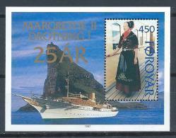 Féroé 1997 N°306 (bloc N°9) Neuf Anniversaire De La Reine Margrethe Ii - Islas Faeroes