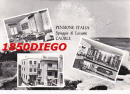 CAORLE - PENSIONE ITALIA SPIAGGIA DI LEVANTE F/GRANDE VIAGGIATA 1963 ANIMATA - Venezia