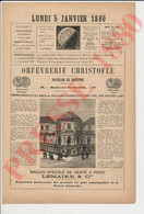 Pub 1880 Orfèvrerie Christofle Pavillon De Hanovre Lemaire Bd Des Italiens Paris Galette Des Rois Fête De La Fève 241/15 - Ohne Zuordnung