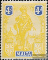 Malta 89 Unmounted Mint / Never Hinged 1922 Clear Brands - Malta