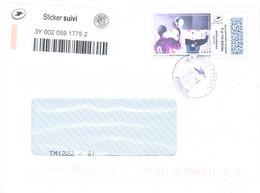 France-lettre Du 14/01/2021- Avec Mon Timbre En Ligne-Hand Ball - Personalizzati
