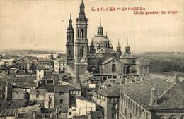 ZARAGOZA VISTA GENERAL DEL PILAR     ZARAGOZA ARAGON ESPAÑA ESPAGNE - Zaragoza