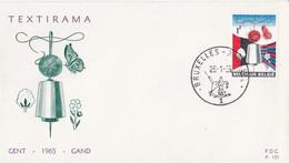 Textirama - FDC P.151 Gent 1965 Gand - Lettres & Documents