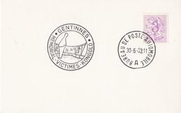 Gentinnes Memorial Victimes Kongolo / Bureau De Poste Automobile 1963 - Lettres & Documents