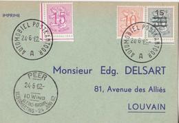 Peer Kleine Brogel 10 WING Vliegmeeting 24 Juni 1962 - Automobiel Postkantoor - Lettres & Documents