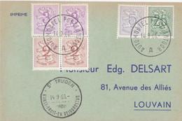 St Truiden Kunst- Fruit- En BEIAARDstad  / Automobiel Postkantoor 1961 - Lettres & Documents