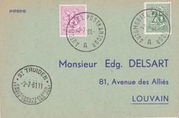 St Truiden - Fruitoogstfeesten Eerste Zondag Van Juli / Automobiel Postkantoor 1961 - Lettres & Documents