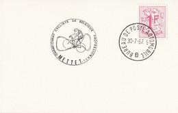 Mettet - Championnat Cycliste De Belgique Professionnel / Bureau De Poste Automobile 1967 - Lettres & Documents