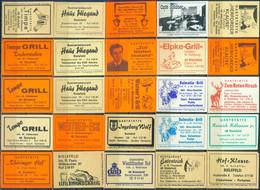 25 Alte Gasthausetiketten Aus Deutschland Sortiert Nach Alter Postleitzahl: 4800-4801 Bielefeld #167 - Matchbox Labels