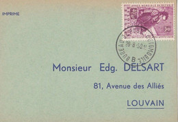 Sortie Des Géants à Ath / Bureau De Poste Automobile 1960 - Lettres & Documents