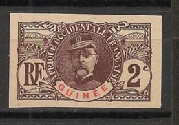 Guinée - 1906 - N°Yv. 34a - Faidherbe 2c - Non Dentelé / Imperf. - Neuf (*) / MNG - Nuovi