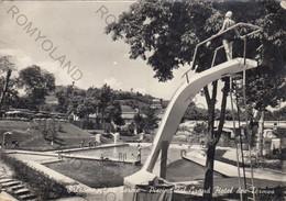 CARTOLINA SALSOMAGGIORE, PARMA EMILIA ROMAGNA,PISCINA DEL GRAND HOTEL DES  TERMES,VACANZA, TERME,TURISMO, VIAGGIATA 1958 - Parma