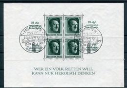 Deutsches Reich - Michel Block 9 SoStpl - Blocks & Sheetlets