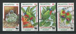 287 - NIUAFO OU (Tonga) 1998 - Yvert 263/66 - WWF Oiseau Perruche - Neuf ** (MNH) Sans Trace De Charniere - Tonga (1970-...)