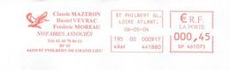 EMA Rouge Loire Atlantique St Philbert De Grand Lieu Notaires Oiseau Canard Colvert Thème Chasse - EMA (Printer Machine)