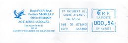 EMA Bleue Loire Atlantique St Philbert De Grand Lieu Notaires Oiseau Canard Colvert Thème Chasse - EMA (Printer Machine)