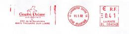 EMA Loire Atlantique Carquefou Tertre GA Guichet Annexe Thouare Sur Loire Sérigraphie Oiseau Goéland Mouette - EMA (Printer Machine)