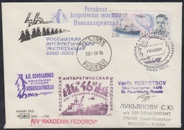 RAE-46 RUSSIA 2000 COVER Used ANTARCTIC EXPEDITION STATION NOVOLAZAREVSKAYA BASE CAPE TOWN PAQUEBOT SHIP FEDOROV Mailed - Antarktis-Expeditionen