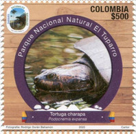 Lote 2020-6.1, Colombia, 2020, Sello, Stamp, Natural Parks II Issue, Turtle, Tortuga - Colombia