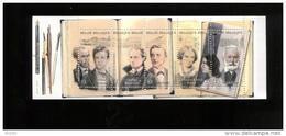 Belgie Boekje Carnet 2010 B111 3995/99 Verlaine Rimbaud Baudelaire Multatuli Bronte Victor Hugo Literature - Markenheftchen 1953-....