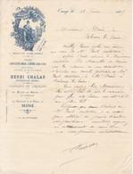 FACTURE 1906 BRASSERIE DE LA MEUSE / ORANGE VAUCLUSE / - 1900 – 1949