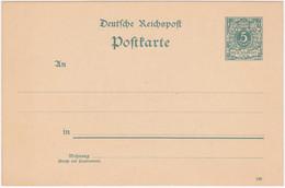 Dt. Reich MiNr. P20 Und P25/01* (R1128) - Stamped Stationery