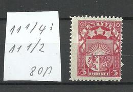 LETTLAND Latvia 1922 Michel 81 Perforated 11 1/4 : 11 /2 * - Letland
