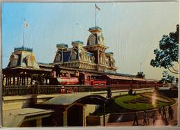 0111204 The Walt Disney World Steam Railroad Red Train The Walt E Disney Black Back No Florida Flag Not Posted 1972 - Disneyworld