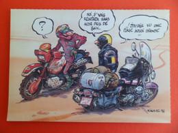 CPSM - Moto - Harley Edition FFMC - Moto Magasine - Signé NIKOLAZ 96 - Non Classés
